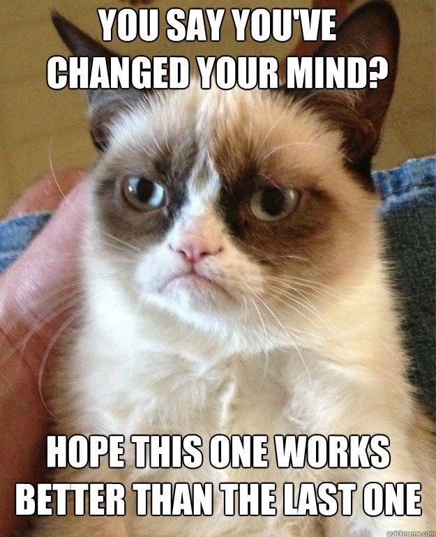 grumpy kitty speaks