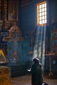 Kneeling Prayer.Orthodox Church