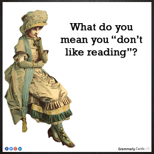 Dont like reading