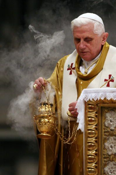 Pope Benedict the XVI with incense