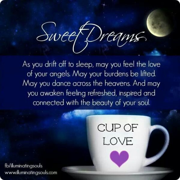 sweet dreams with a cup of love