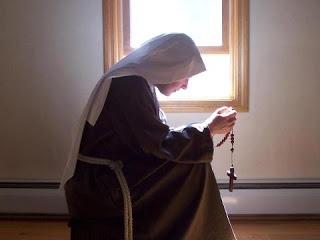praying rosary in silence