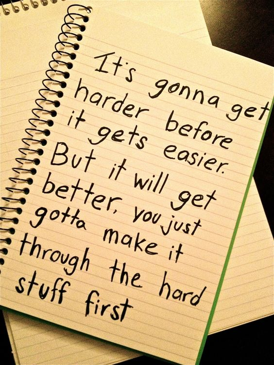 gonna get harder