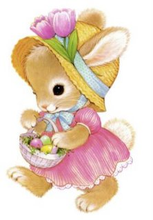 easter bunny girl with basket