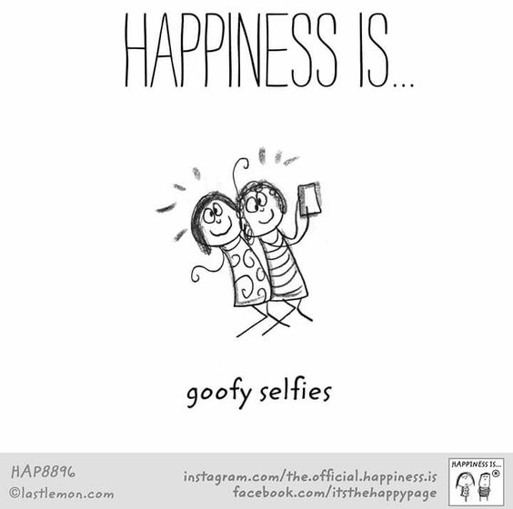 happiness selfies