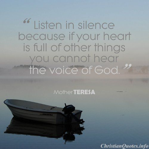 silence by mother therese