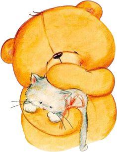 teddy n cat