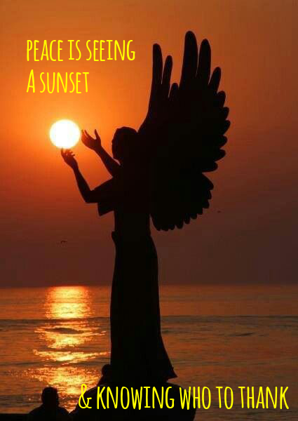 peace is seeing a sunset