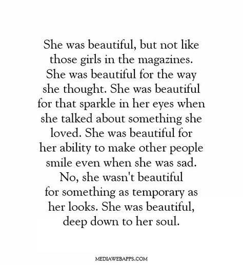 beauty in her soul