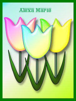 tulips with alexa name and border